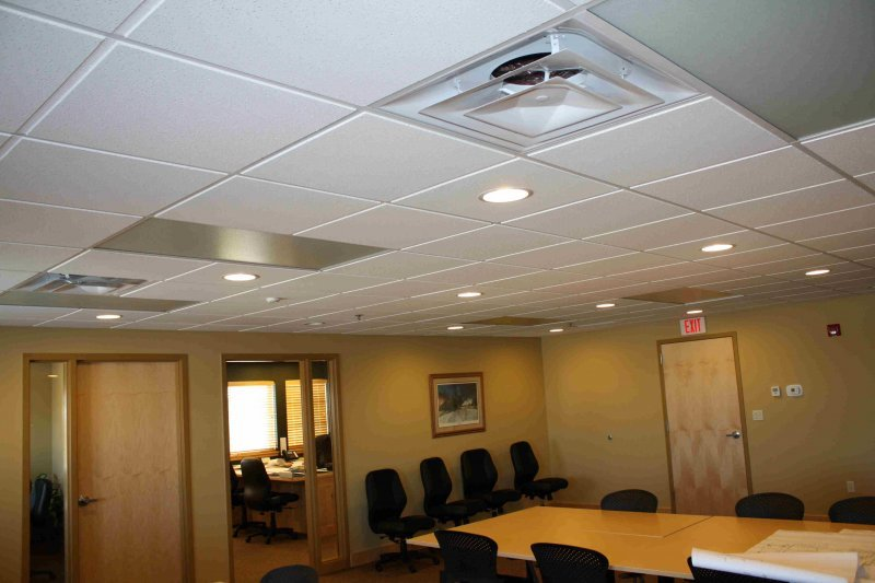 Far Infrared Heating Panels in a Boardroom