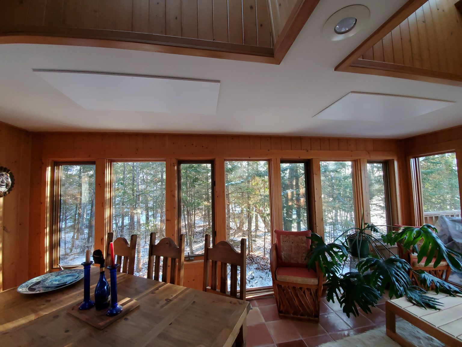 SolaRay Far Infrared Panels in NW Ontario Cottage Sunroom