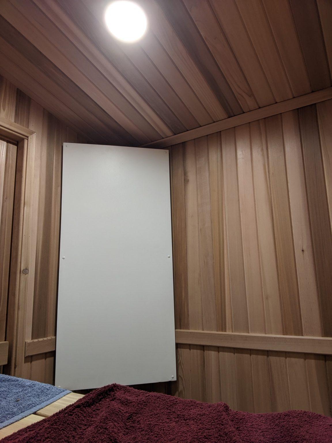 Ducoterra Far Infrared Panel in a Sauna