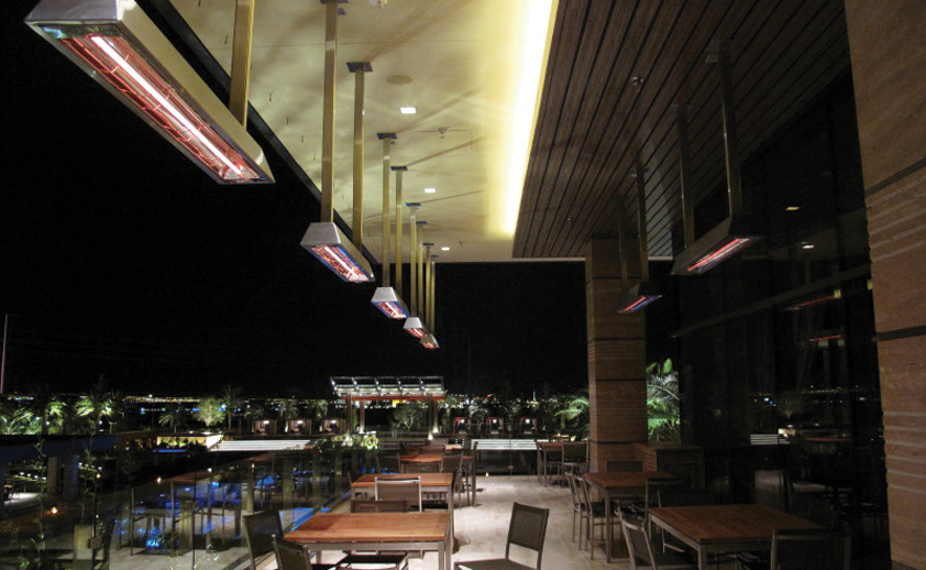 Infratech Infrared Heaters Above a Patio - Vegas