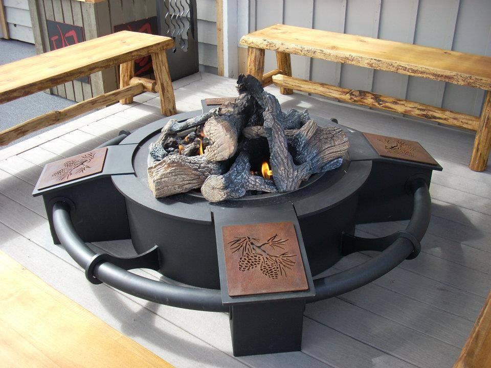 "HPC Custom Fire Pit by Travis Industries ""Maverick"""