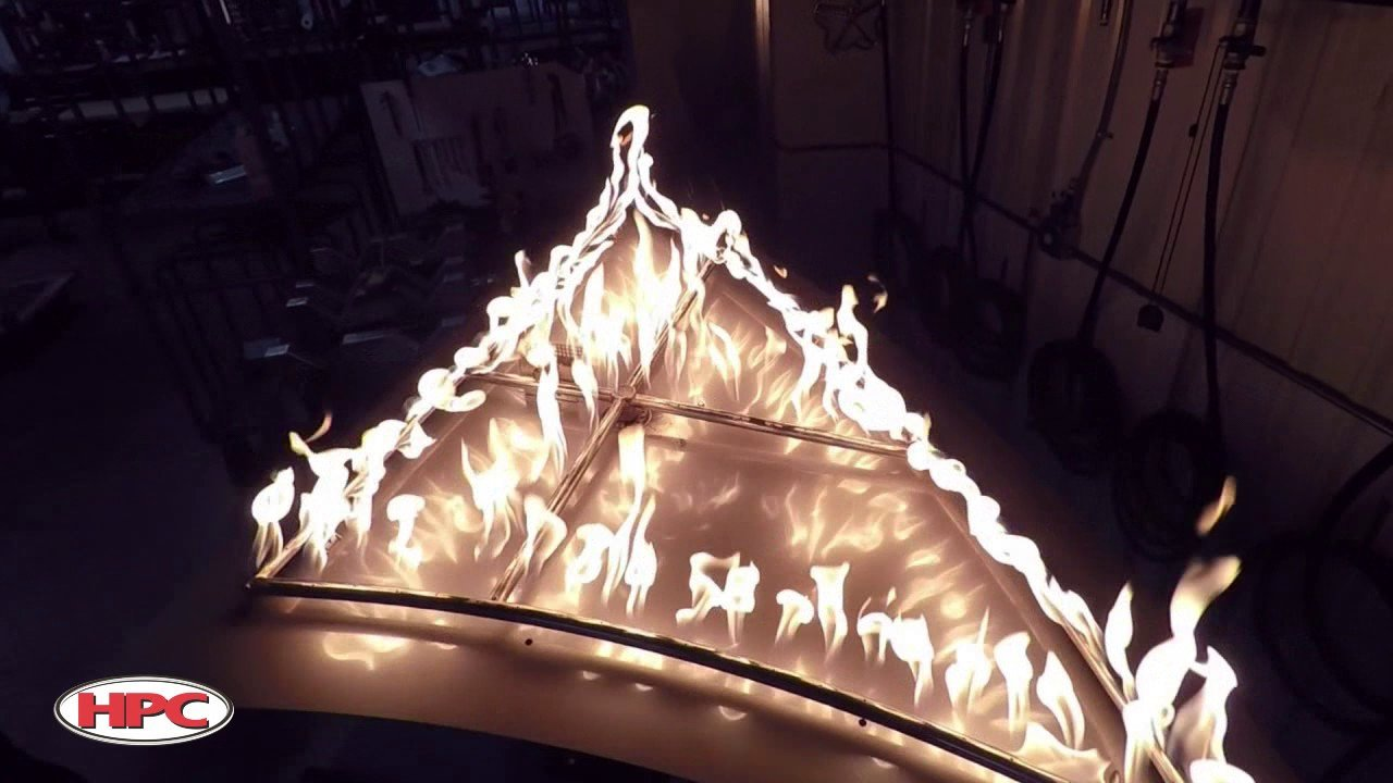 HPC Custom Fire Pit with Shark Fin Design