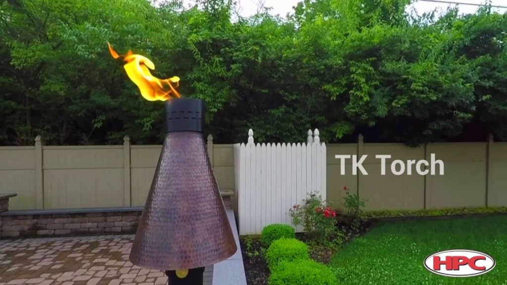 HPC Outdoor Fire Feature - Gas Tiki Torch