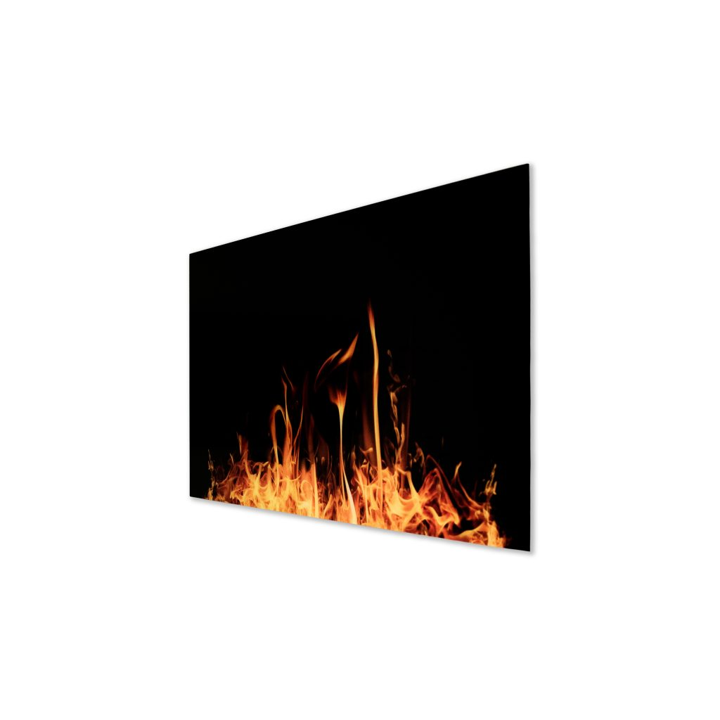 SI Series Glass Far Infrared Panel - Fire Image