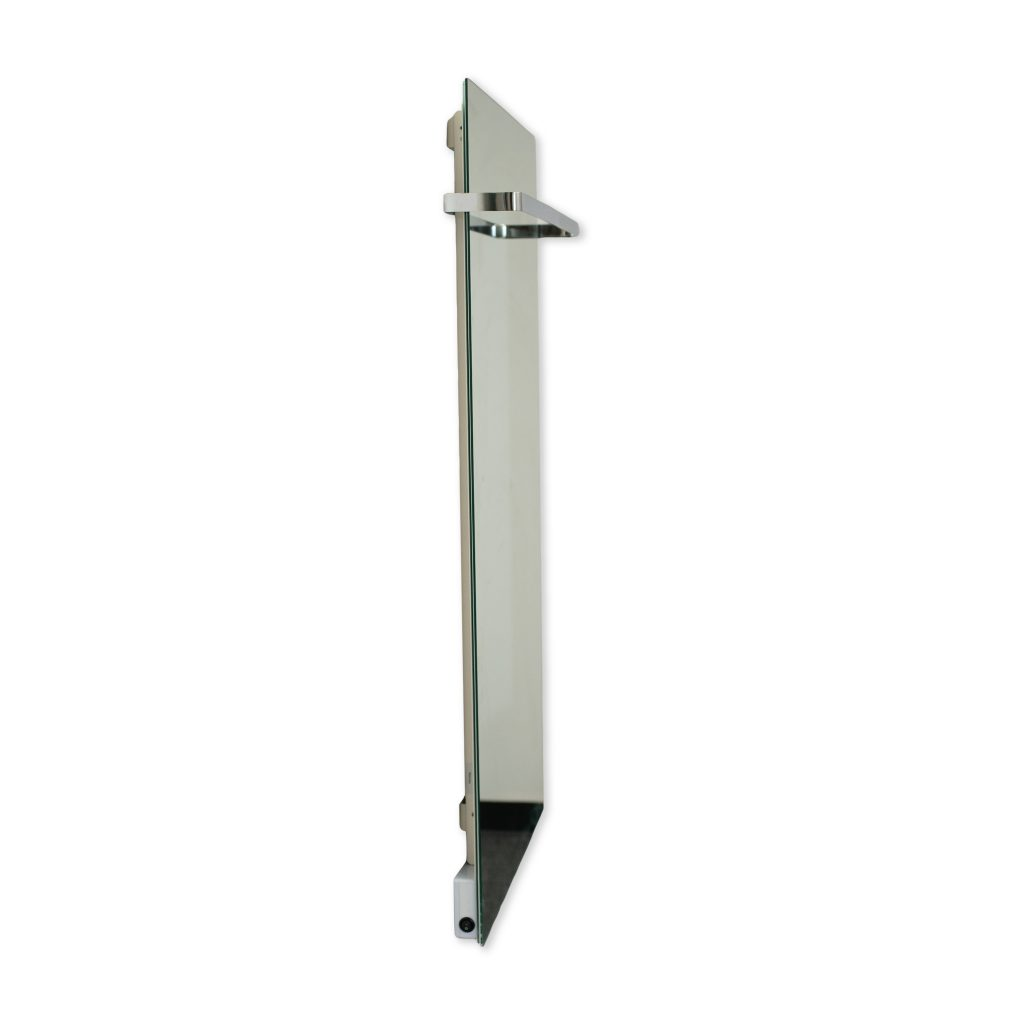 SI Series Glass Far Infrared Panel - Mirror Side View with Towel Rack