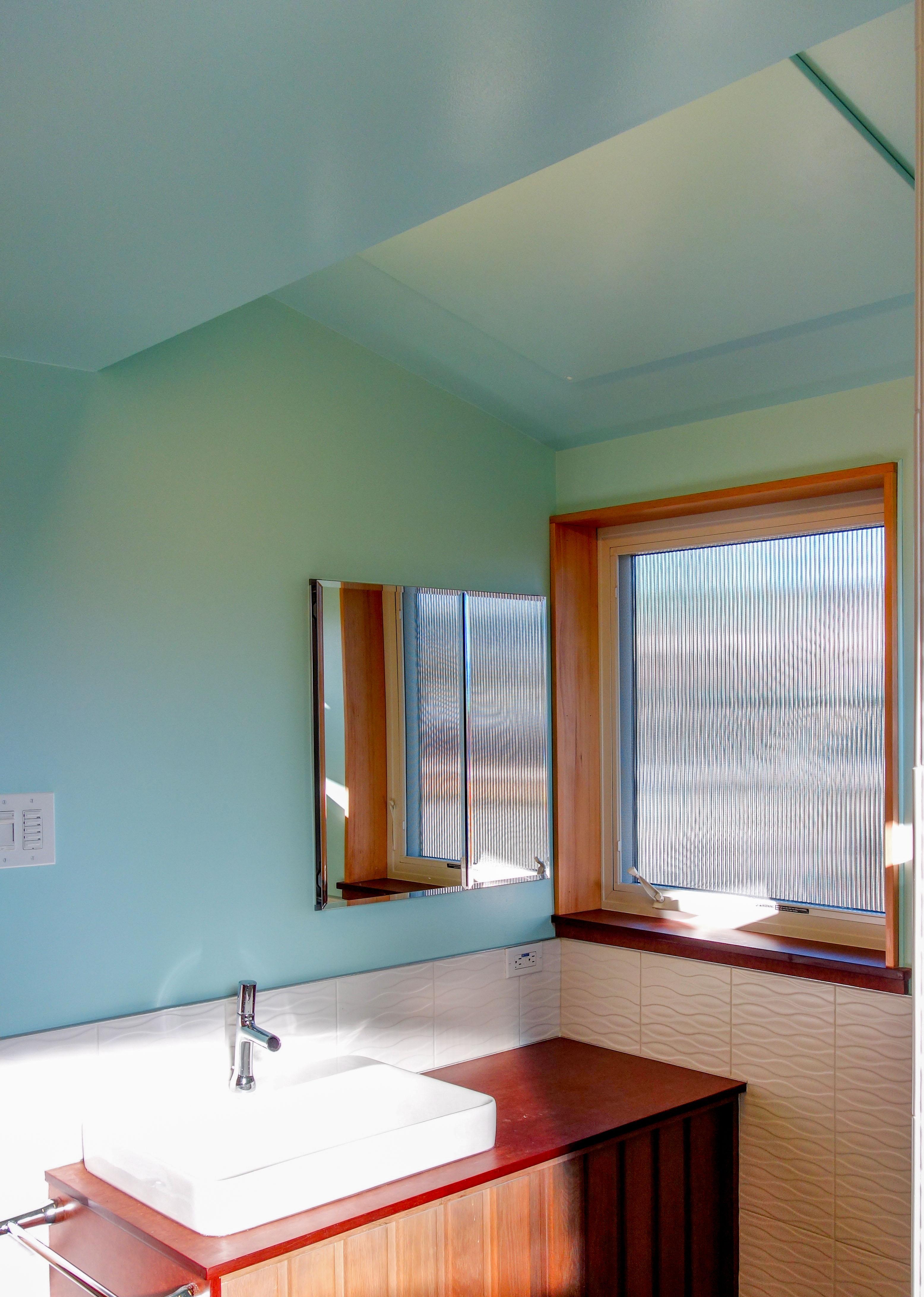 SolaRay Far Infrared Panel in a Bathroom