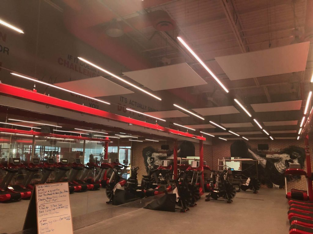 Prestyl PR4242 far infrared heating panels in a Gym