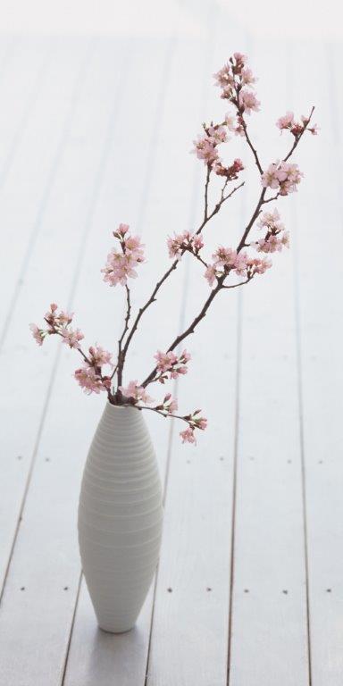 Decorative Flowers Glass Panel Image
