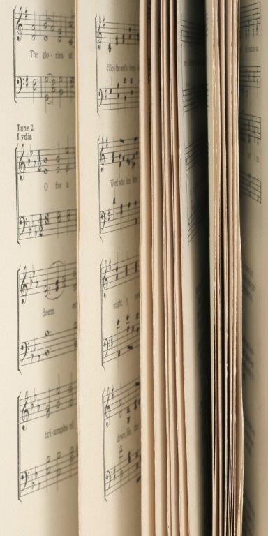 Music Score Glass Panel Image