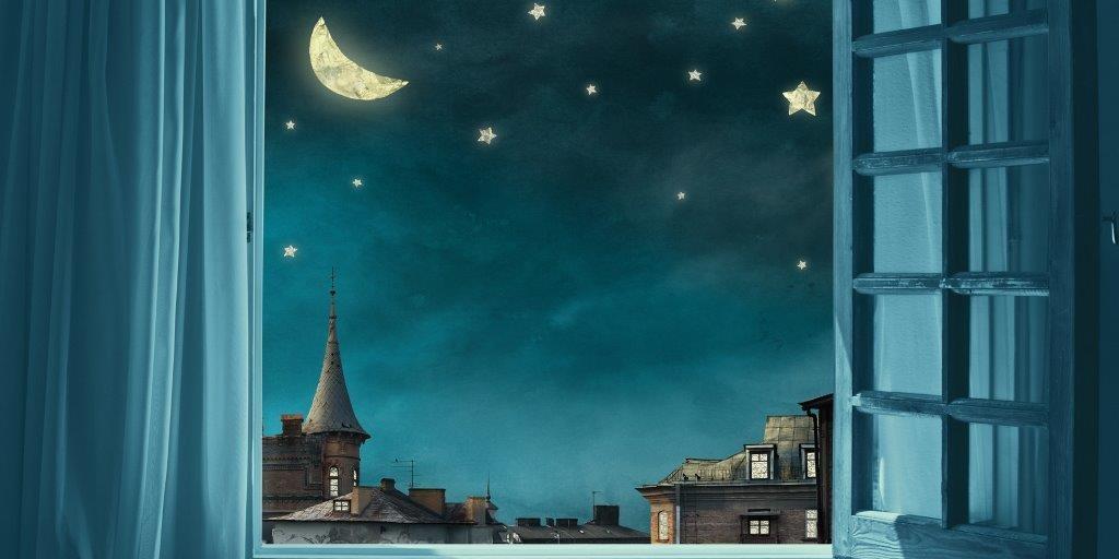 Nighttime Glass Panel Image