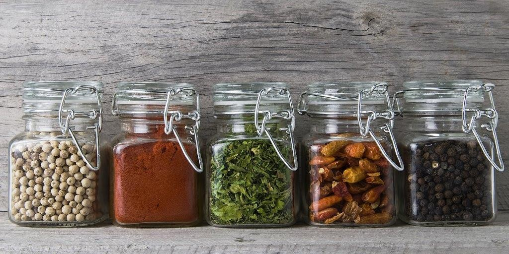 Spice Jars Glass Infrared Panel Image