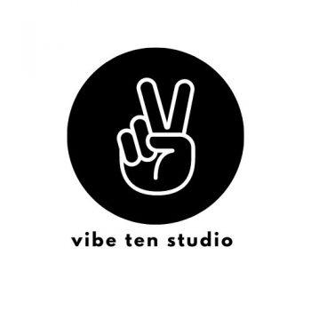 Vibe Ten Studio Logo